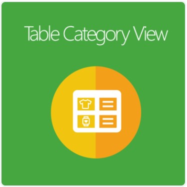 Magento 2 Table Category View extension