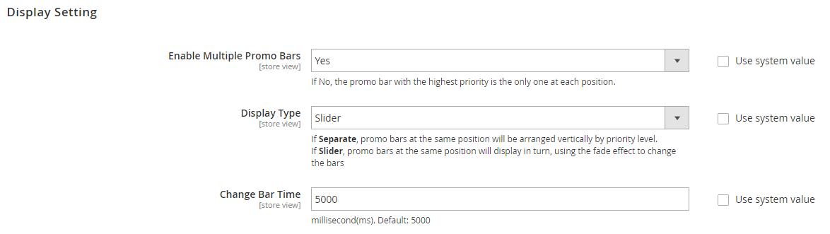 magento 2 promo bar extension