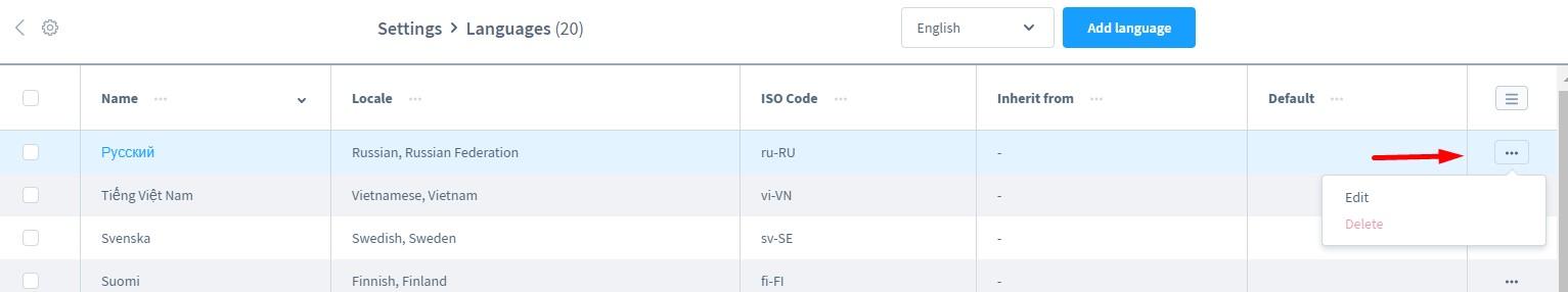 shopware 6 language settings