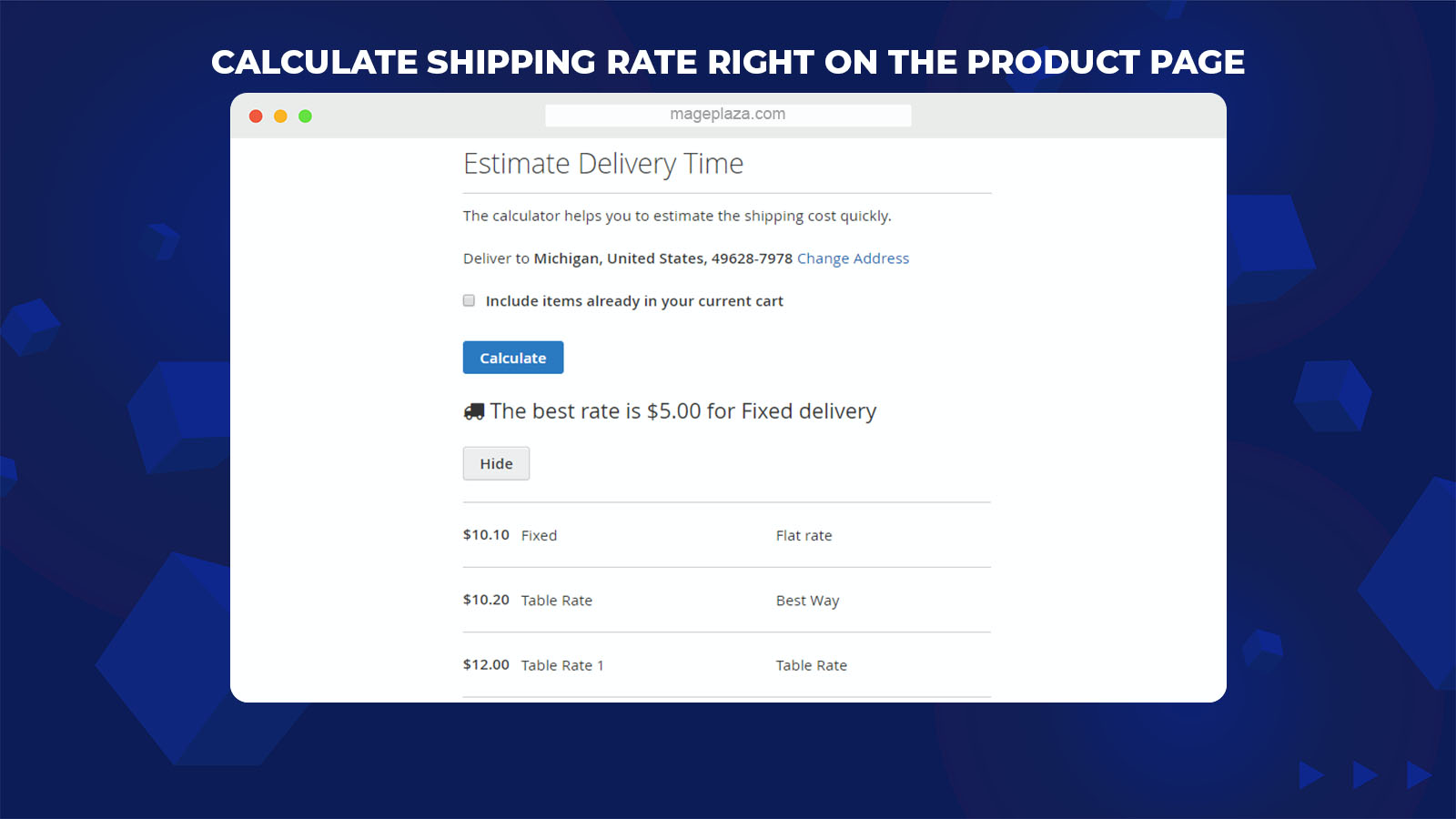 Magento 2 Shipping Cost Extension