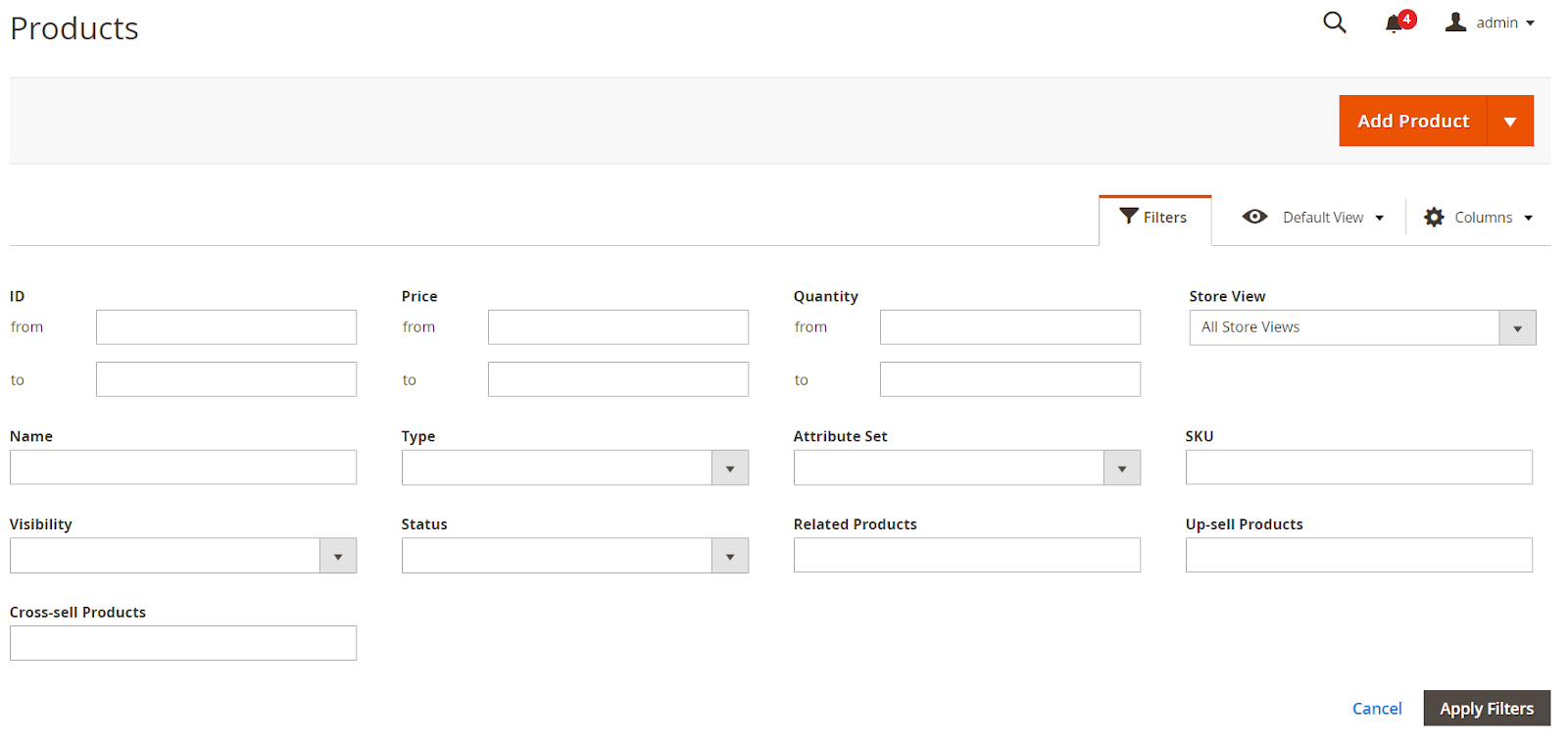 Magento 2 product grid extension