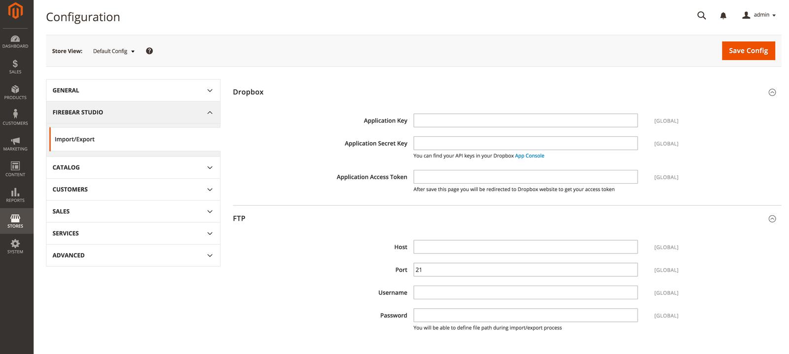 Magento 2 import from Dropbox, Box, Google, FTP