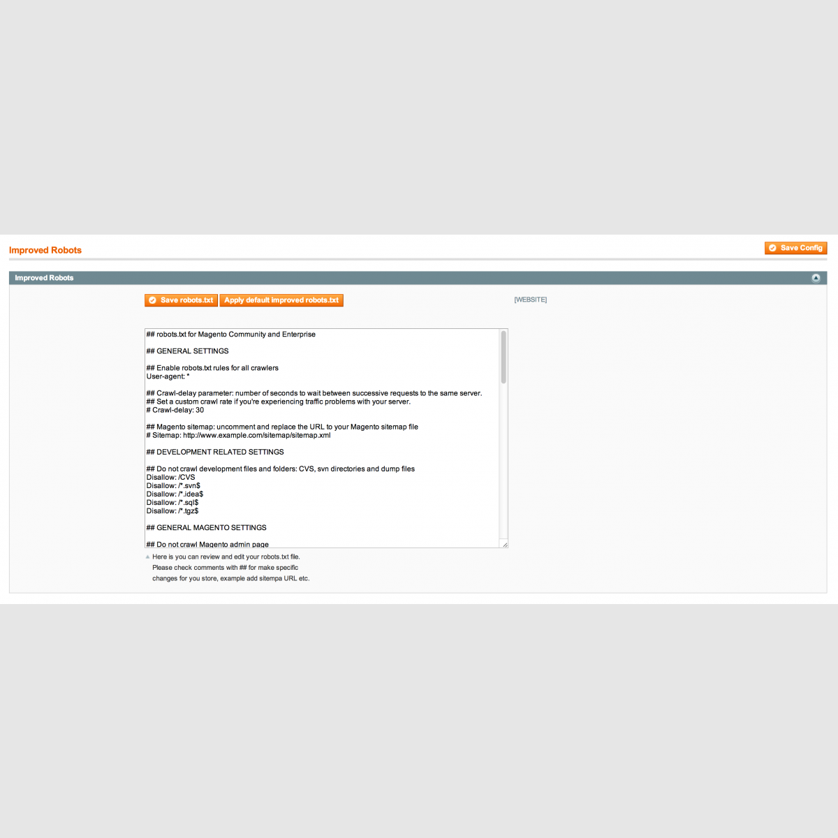 correct magento specific robots txt improved robots www