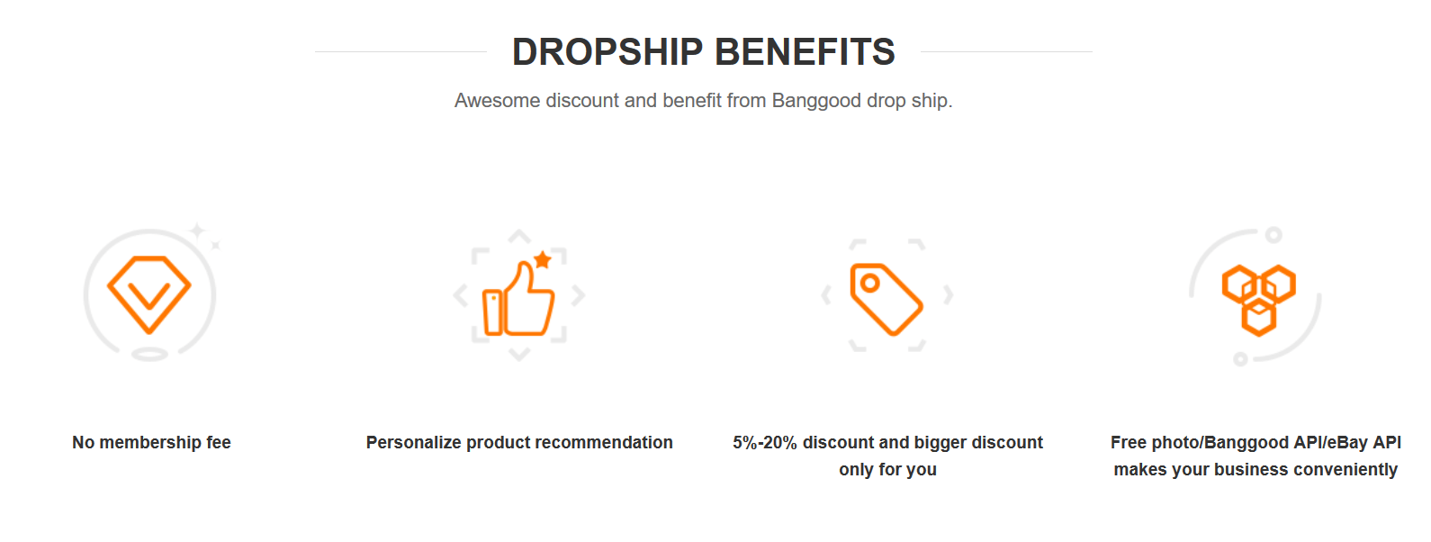 Banggoods dropshipping features